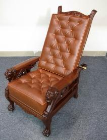 Mahogany Lion Morris Chair