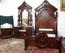 Three-Piece Walnut Bedroom