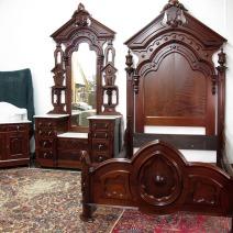 Three-Piece Walnut Bedroom